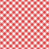 Seamless red diagonal gingham pattern, or fabric cloth. Seamless (you see 4 tiles) red diagonal gingham fabric cloth, pattern, swatch, background, texture or royalty free illustration