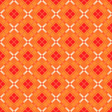 Seamless red diamond check geometry pattern background. Royalty Free Stock Photo