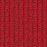 Seamless Red drape or curtain background Royalty Free Stock Photography