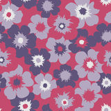 Seamless red floral  background Royalty Free Stock Images