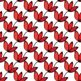 Seamless red floral  pattern background. stock illustration