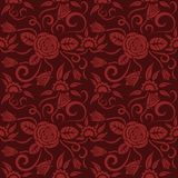 Seamless red floral pattern, vector. Endless texture can be used for wallpaper, pattern fills, web page background, surface te Stock Photos