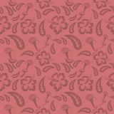 Seamless red floral  pattern,  vector. Endless texture can be used for wallpaper, pattern fills, web page  background,  surface te Stock Photo