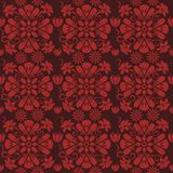 Seamless red floral  pattern,  vector. Endless texture can be used for wallpaper, pattern fills, web page  background,  surface te Stock Photography