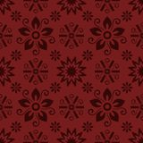 Seamless red floral  pattern,  vector. Endless texture can be used for wallpaper, pattern fills, web page  background,  surface te Royalty Free Stock Images
