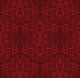 Seamless Red Floral Wallpaper Royalty Free Stock Image