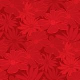 Seamless Red Floral Wallpaper Royalty Free Stock Photos