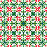 Seamless red flower and green calyx pattern bg Royalty Free Stock Photos