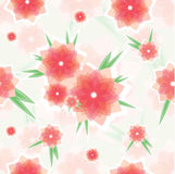 Seamless red flower pattern Royalty Free Stock Photo