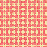 Seamless red flower pattern background.  Stock Image