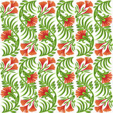Seamless red flower pattern Stock Photo