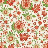 Seamless red flower wallpaper Stock Photography