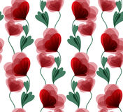 Seamless red flowers Royalty Free Stock Photos