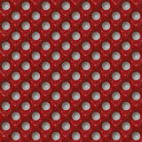 Seamless red glossy Polka dot background. Royalty Free Stock Images