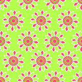 Seamless red-green pattern. Seamless red-green floral pattern Royalty Free Stock Images