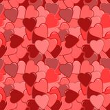 Seamless red heart pattern Royalty Free Stock Photography