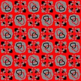 Seamless red heart pattern Royalty Free Stock Images