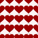 Seamless red heart. Seamless pattern of red heart. vector format Royalty Free Stock Photo
