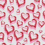 Seamless Red Hearts Stock Photography