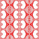 Seamless Red Lace Hearts Pattern Stock Images