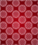 Seamless red lace ornament wallpaper Royalty Free Stock Photo