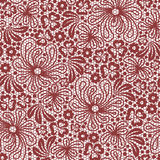 Seamless red lace Stock Photos