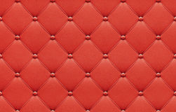 Seamless red leather upholstery pattern Stock Photos