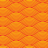Seamless Red line wave background pattern. For design royalty free illustration