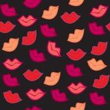 Seamless red lips print Stock Photos