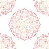 Seamless Of Red Lotus On White Royalty Free Stock Photos