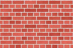 Seamless Red old brick wall background Stock Images