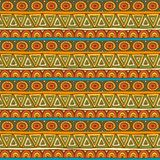 Seamless red, orange and green color ornament Royalty Free Stock Image