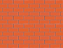 Seamless red orange new and clean brick wall. Seamless vibrant red orange new brick wall Royalty Free Stock Photo