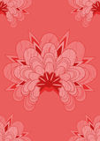 Seamless red Oriental flowers  Stock Photography