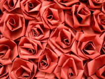Seamless Red paper roses background Royalty Free Stock Images