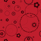 Seamless red pattern with doodles Royalty Free Stock Image