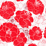 Seamless red pattern Royalty Free Stock Photography