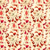 Seamless red pattern of flowers tagetes patula. Bright seamless red pattern of flowers tagetes patula, wallpaper, floral, background, summer, plant, fashion stock photos