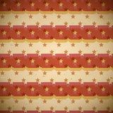 Seamless red pattern with shifted stars Stock Images