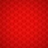Seamless red pattern with snowflakes Stock Photos