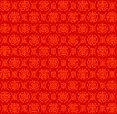 Seamless Red Pattern of Two Variant of Chinese Symbol called Shou Stock Image