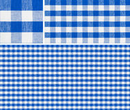 Seamless red picnic table cloth pattern. Seamless picnic table cloth pattern 1500x1500 with samples. Good for blue checkered tablecloth creation of any size Royalty Free Stock Images