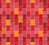 Seamless Red  - Pink - Orange Concrete Locking Pavement Pattern Royalty Free Stock Images