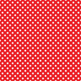 Seamless red polka dot background Royalty Free Stock Photography
