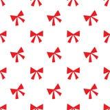 Seamless red ribbon pattern on white Royalty Free Stock Photos