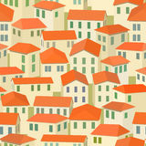 Seamless red roof of old town Royalty Free Stock Photography