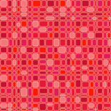 Seamless Red Squares. Seamless wallpaper pattern with red square and rectangular design, red background, vector illustration Stock Photography