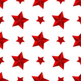 Seamless red star background Royalty Free Stock Image