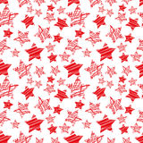 Seamless red star pattern vector Royalty Free Stock Photos