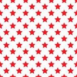 Seamless red stars on white Royalty Free Stock Photos